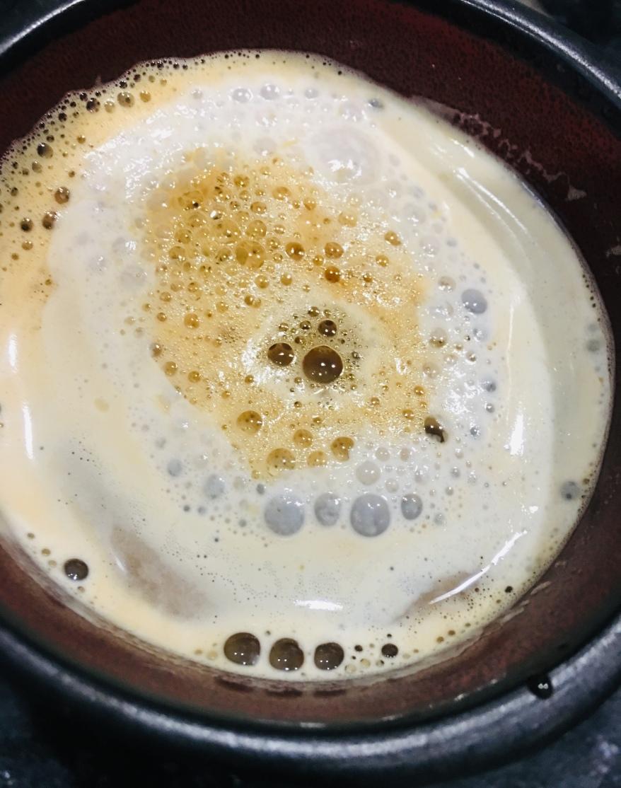 Un café latté au lait de soja
